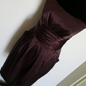 Davids Bridal Chocolate brown Bridesmaids dress